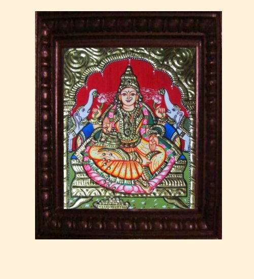 Lakshmi 10 - Gaja Lakshmi - 10x8in (14x12in with frame)