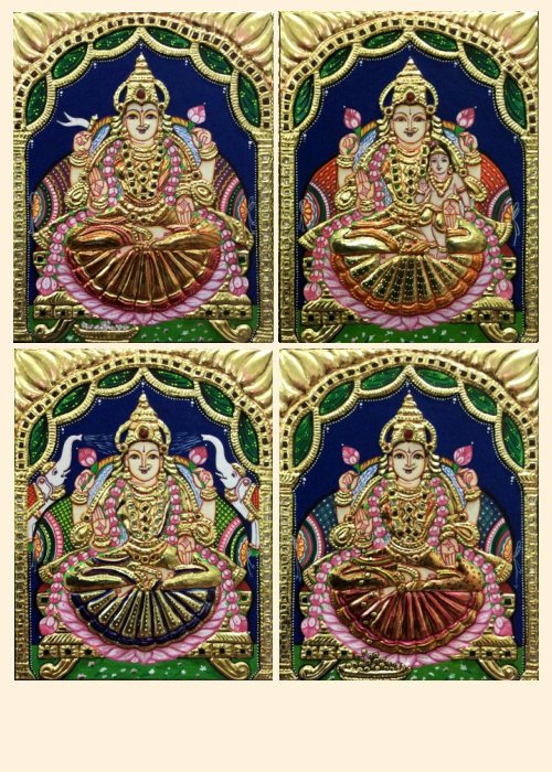 Ashta Lakshmi 20 - 10x8in each (without frame)