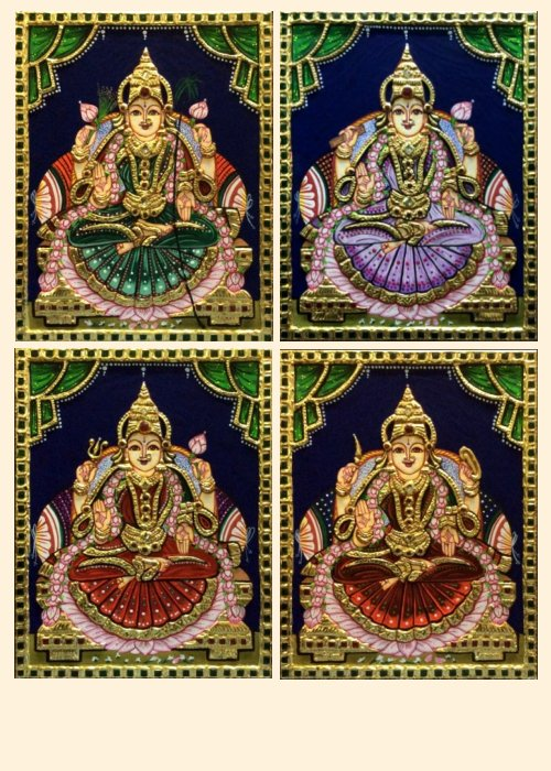 Ashta Lakshmi 21 - 10x8in each (without frame)