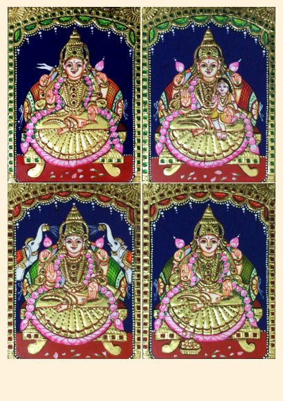 Ashta Lakshmi 24 - 8x6in each (without frame)