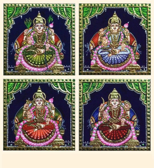 Ashta Lakshmi 25 e-h - 7x7in each (without frame)