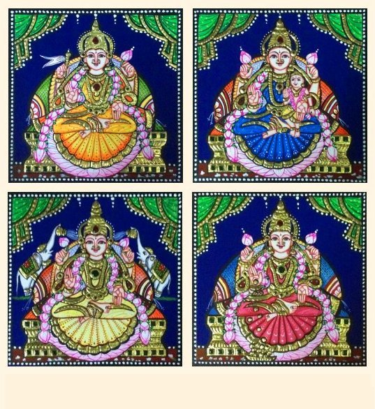 Ashta Lakshmi 31 a-d - 7x7in each (without frame)