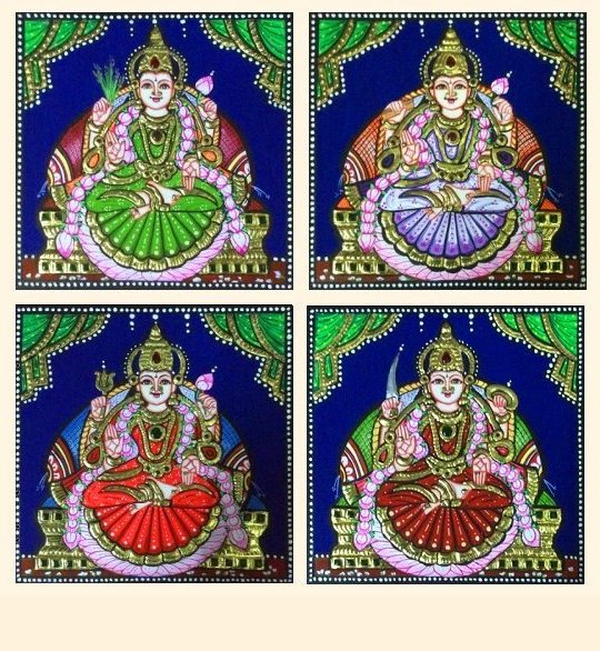 Ashta Lakshmi 31 e-h - 7x7in each (without frame)