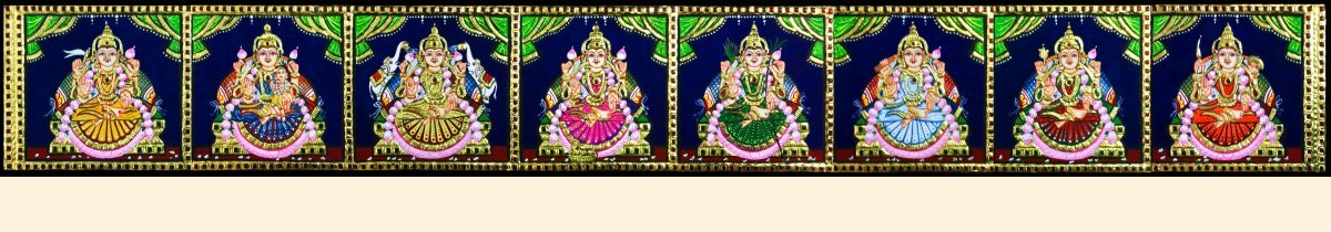Lakshmi 32 - Ashta Lakshmi above pooja room door- 60x7in