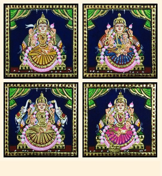 Ashta Lakshmi 32 - 7x7in each (without frame)