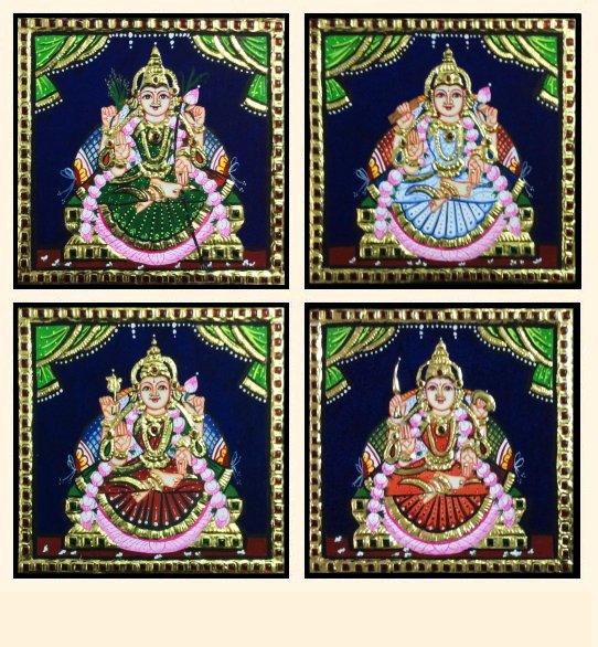 Ashta Lakshmi 33 - 7x7in each (without frame)