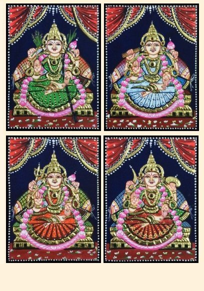 Ashta Lakshmi 33 - 8x6in each (without frame)