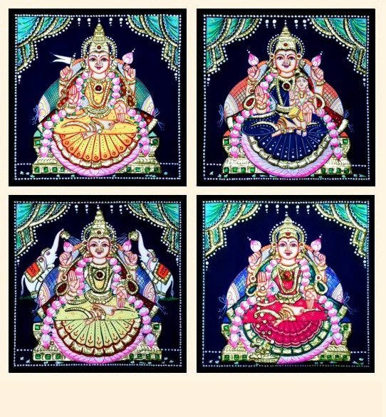 Ashta Lakshmi 35 - 7x7in each (without frame)