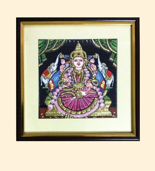 Gaja Lakshmi 36 - 7x7in - 10x10in with frame