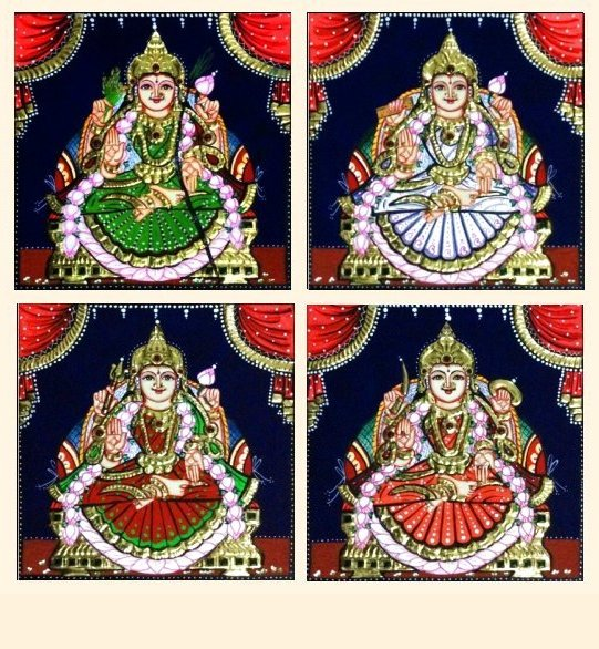 Ashta Lakshmi 38 - 7x7in each (without frame)