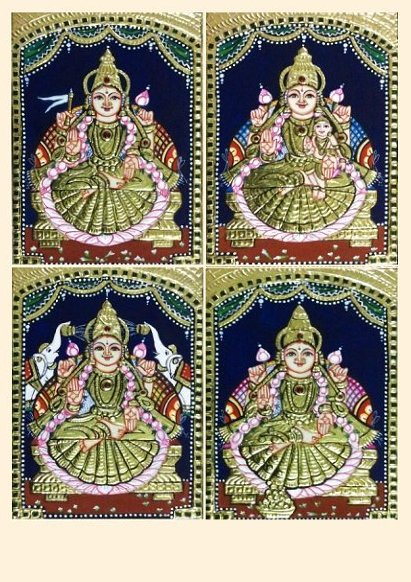 Ashta Lakshmi 41 - 8x6in each (without frame)