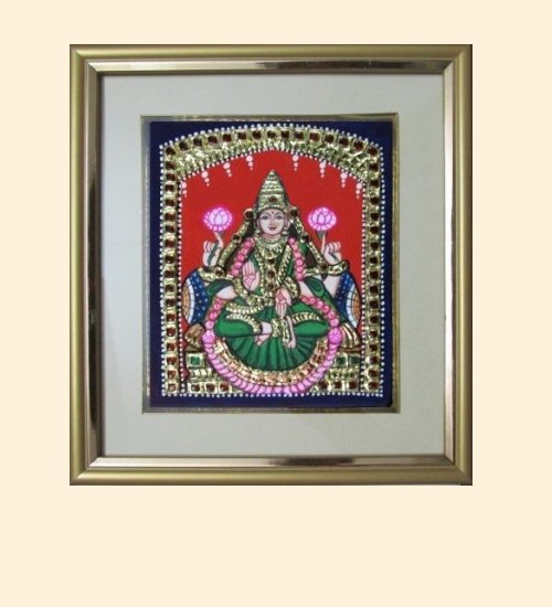 Lakshmi 4 - Dhana Lakshmi - 6x5in (9x8in with frame)