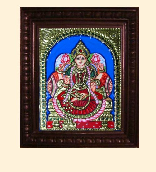 Lakshmi 9 - Dhana Lakshmi - 10x8in (14x12in with frame)