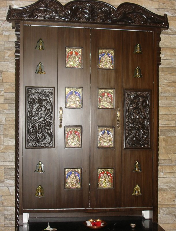 Pooja doors designs joy studio design gallery best design - Pooja room door designs in kerala ...